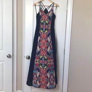 Bohemian floral Adelyn Rae maxi dress
